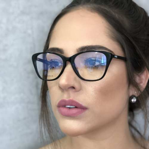 oticagriss armacao para oculos de grau griss 104 preto 1