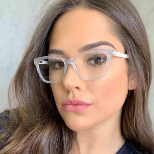 oticagriss armacao para oculos de grau griss 111 transparente