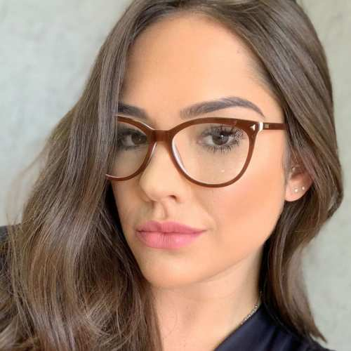 oticagriss armacao para oculos de grau griss 112 marrom com rosa