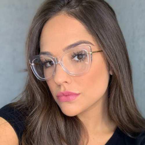 oticagriss armacao para oculos de grau griss 113 transparente