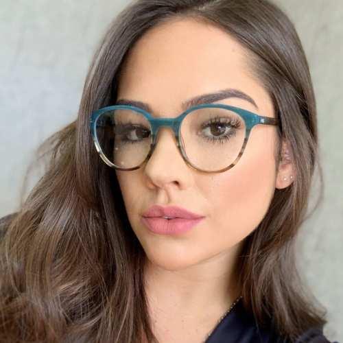 oticagriss armacao para oculos de grau griss 116 verde com tartaruga