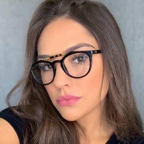oticagriss armacao para oculos de grau griss 118 tartaruga amarelo