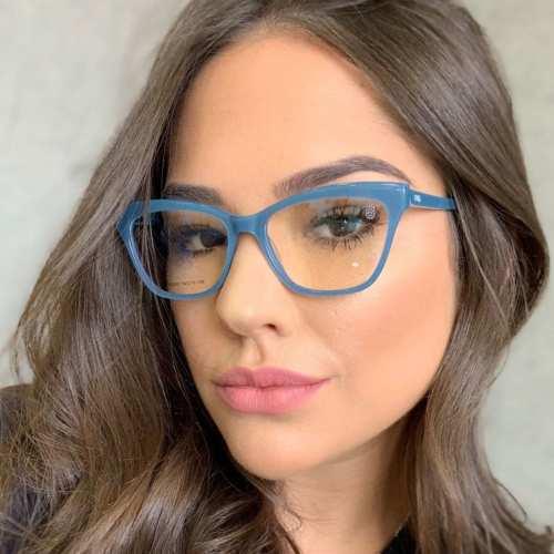 oticagriss armacao para oculos de grau griss 123 azul