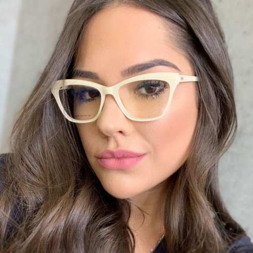 oticagriss armacao para oculos de grau griss 123 bege