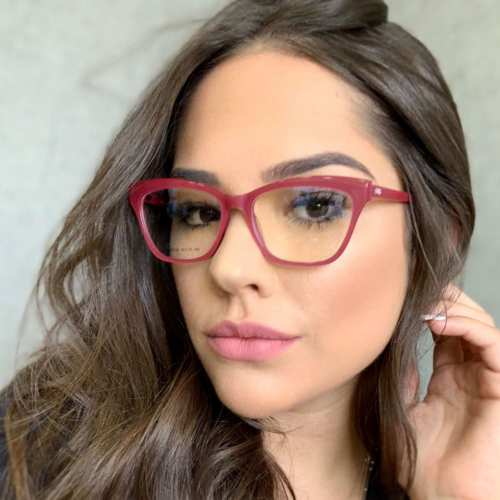 oticagriss armacao para oculos de grau griss 123 rosa