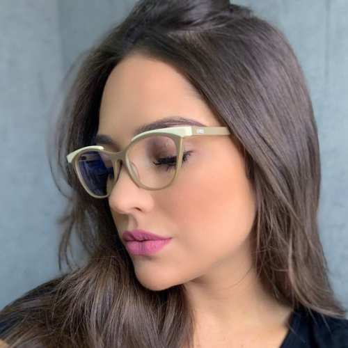 oticagriss armacao para oculos de grau griss 124 nude