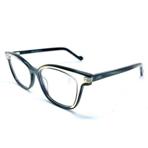 oticagriss armacao para oculos de grau griss 125 preto com transparente 2