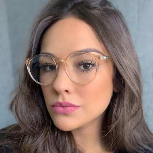 oticagriss armacao para oculos de grau griss 127 dourado transparente 4
