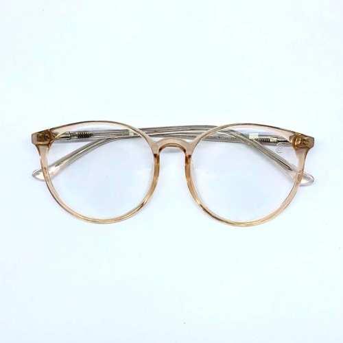 oticagriss armacao para oculos de grau griss 127 dourado transparente 5