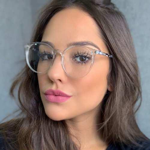 oticagriss armacao para oculos de grau griss 127 transparente