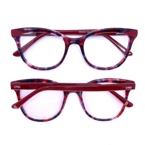 oticagriss armacao para oculos de grau griss 128 vermelho 1