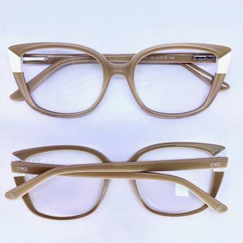 oticagriss armacao para oculos de grau griss 129 nude
