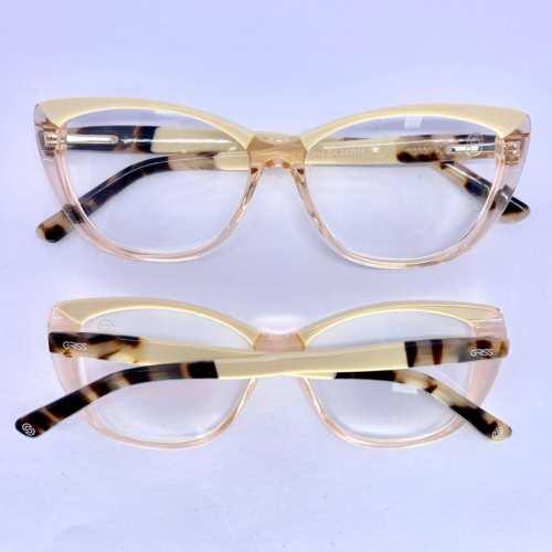 oticagriss armacao para oculos de grau griss 132 rosa transparente 1
