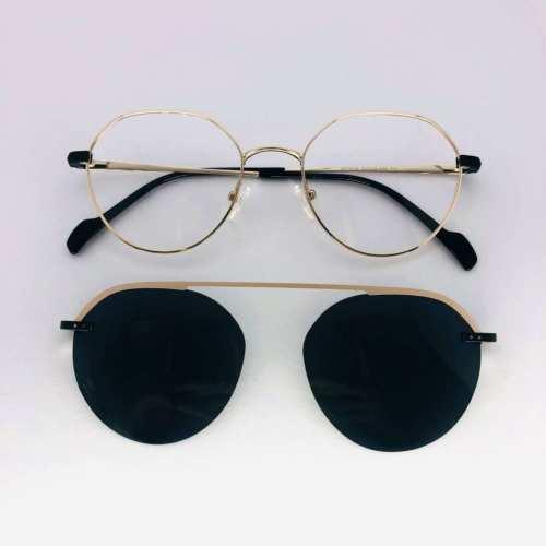oticagriss armacao para oculos de grau griss 133 dourado 4