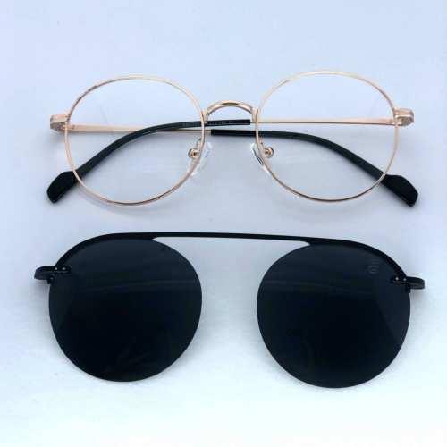 oticagriss armacao para oculos de grau griss 133 dourado