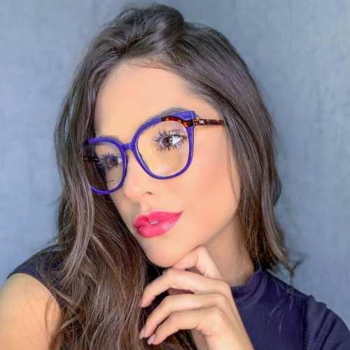 oticagriss armacao para oculos de grau griss 135 azul