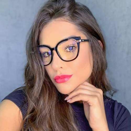 oticagriss armacao para oculos de grau griss 135 preto