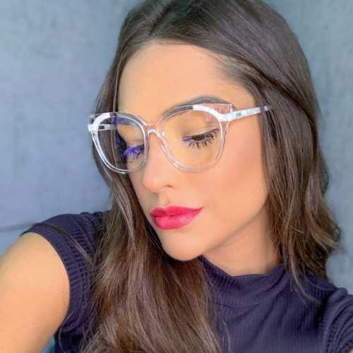oticagriss armacao para oculos de grau griss 135 transparente