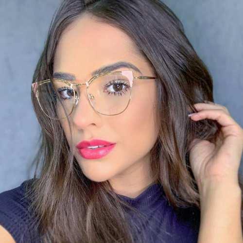 oticagriss armacao para oculos de grau griss 136 rosa