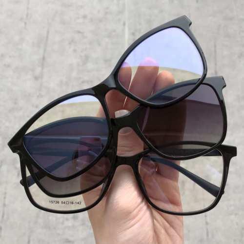 oticagriss oculos clip on retangular 168 preto