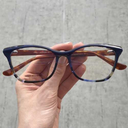 oticagriss oculos de grau gatinho azul com tartaruga 175