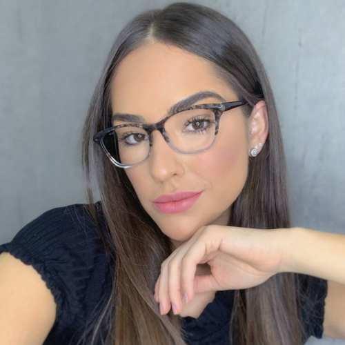 oticagriss oculos de grau gatinho transparente com preto 175 3