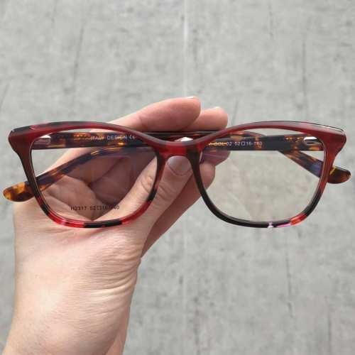 oticagriss oculos de grau gatinho vermelho com tartaruga 175