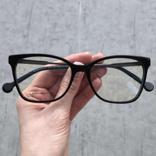 oticagriss oculos de grau quadrado preto 170