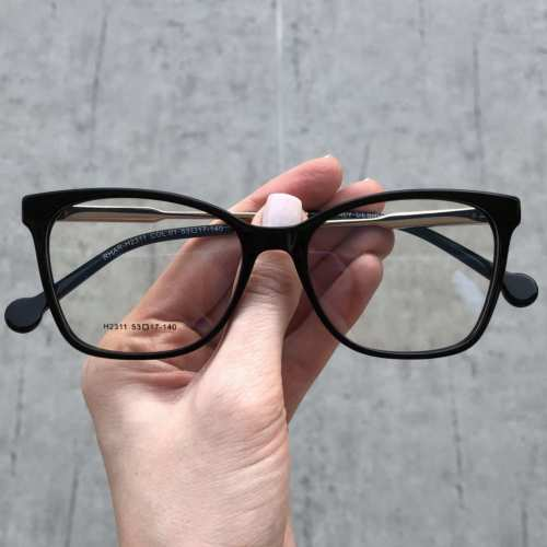 oticagriss oculos de grau quadrado preto com prata170