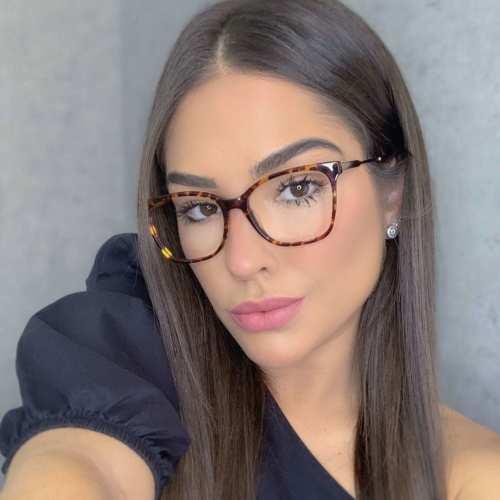 oticagriss oculos de grau quadrado rajado 170