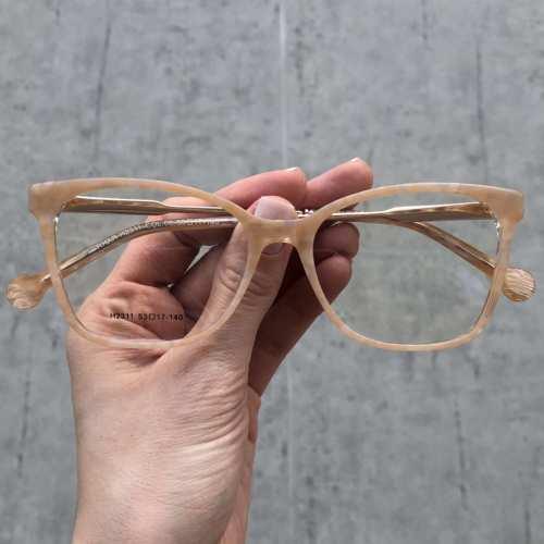 oticagriss oculos de grau quadrado salmao 170