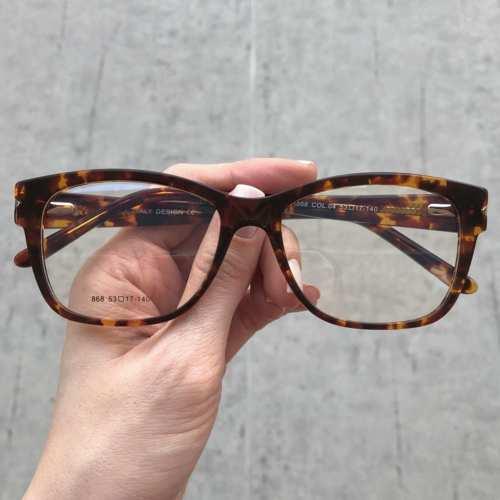oticagriss oculos de grau quadrado tartaruga 178