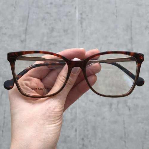 oticagriss oculos de grau quadrado tartatuga 170
