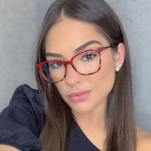 oticagriss oculos de grau quadrado vermelho com tartatuga 170 1