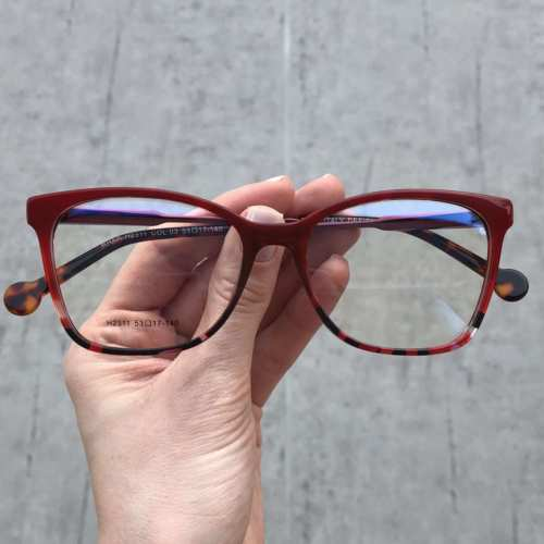 oticagriss oculos de grau quadrado vermelho com tartatuga 170 2