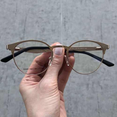oticagriss oculos de grau redondo dourado 169