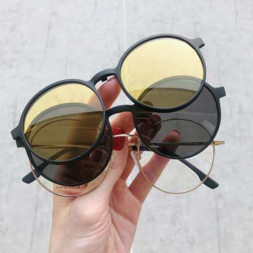 oticagriss oculos clip on redondo dourado185 1