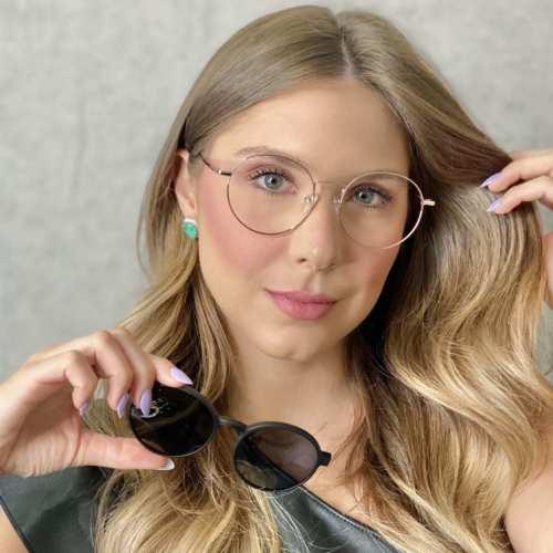 oticagriss oculos clip on redondo dourado185