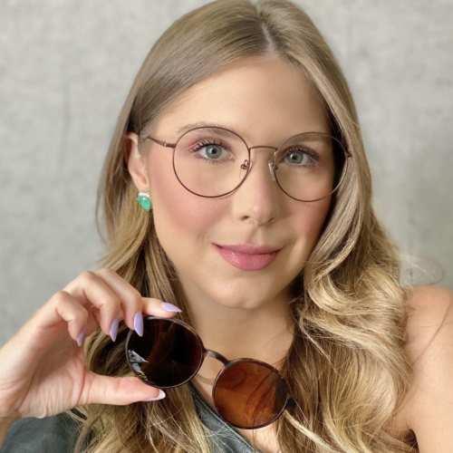 oticagriss oculos clip on redondo tartaruga 185