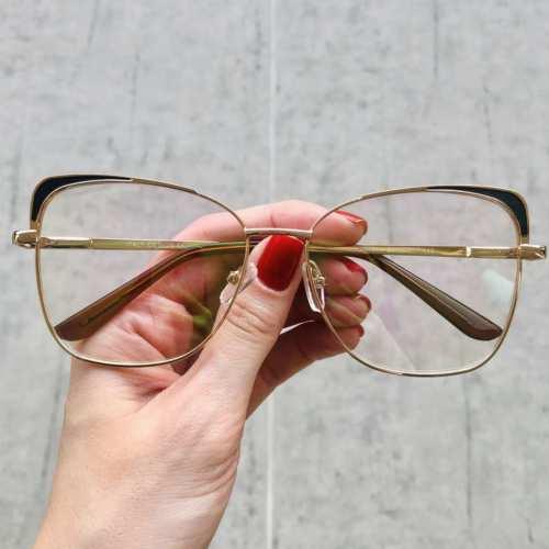 oticagriss oculos de grau gatinho preto 179