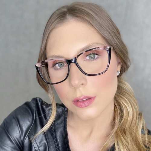 oticagriss oculos de grau gatinho tartaruga com rosa 181