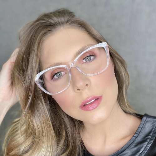 oticagriss oculos de grau gatinho transparente 181 2