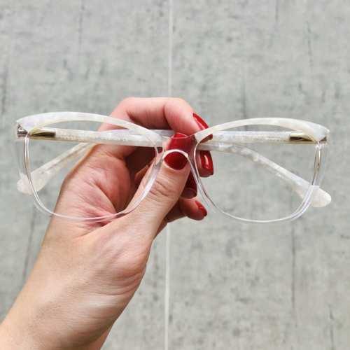 oticagriss oculos de grau gatinho transparente 181 3