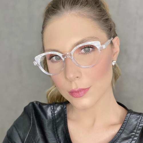 oticagriss oculos de grau gatinho transparente 184