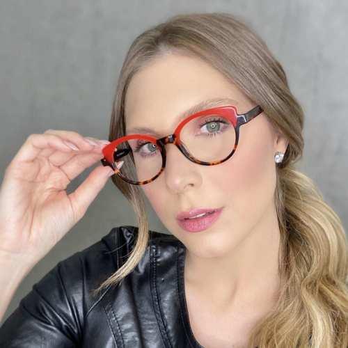 oticagriss oculos de grau gatinho vermelho com tartaruga 184 1