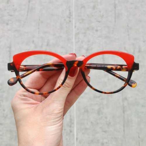 oticagriss oculos de grau gatinho vermelho com tartaruga 184 2