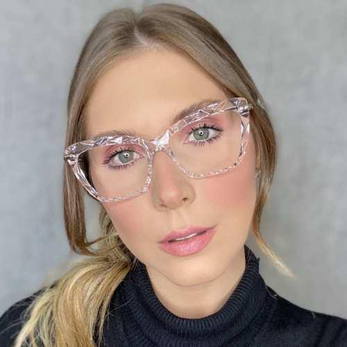 oticagriss oculos de grau gatinho transparente 191 2