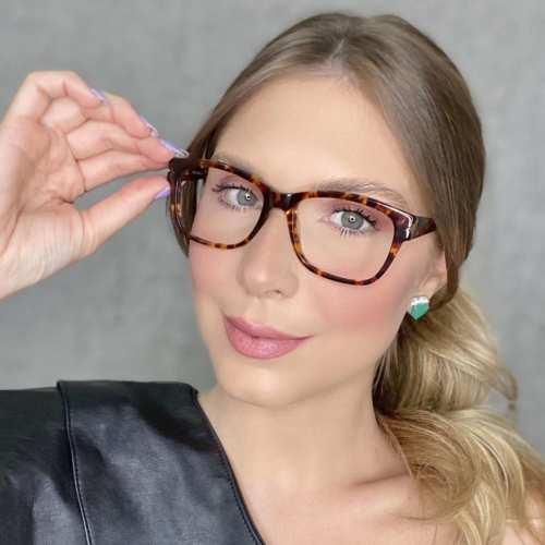 oticagriss oculos de grau retangular rajado 188