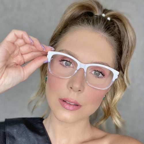 oticagriss oculos de grau retangular transparente 188
