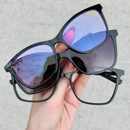 oticagriss oculos clip on preto 196